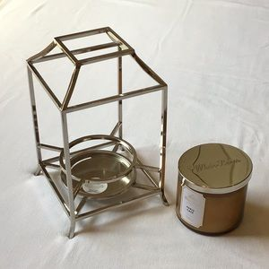 BBW New Paris Cafe Candle and Indoor Lantern